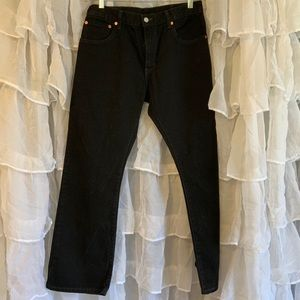 Levi's straight leg 517 black jeans 32/30